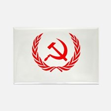 Soviet Wreath Red Rectangle Magnet