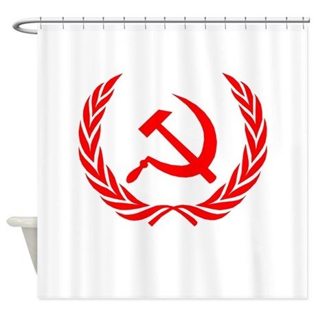 Soviet Wreath Red Shower Curtain