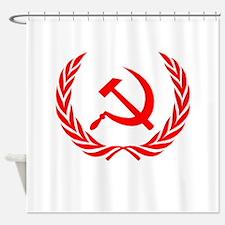 Soviet Wreath Red Shower Curtain