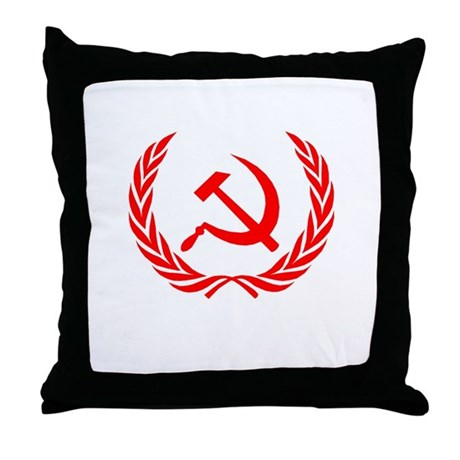 Soviet Wreath Red Throw Pillow