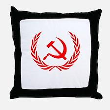 Soviet Wreath Red Throw Pillow