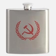 Soviet Wreath Red Flask