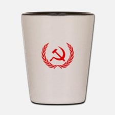 Soviet Wreath Red Shot Glass