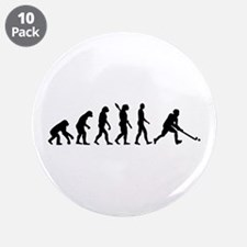 "Field hockey evolution 3.5"" Button (10 pack)"
