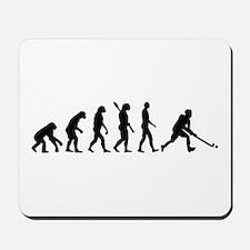 Field hockey evolution Mousepad