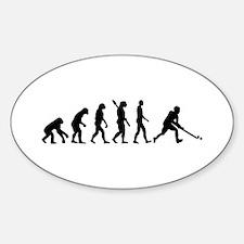 Field hockey evolution Sticker (Oval)