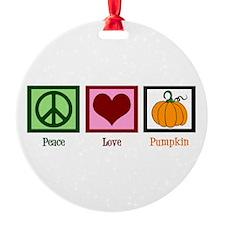 Peace Love Pumpkin Ornament