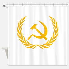 Soviet Wreath Shower Curtain