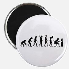 Computer office evolution Magnet