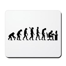 Computer office evolution Mousepad