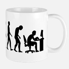 Computer office evolution Mug