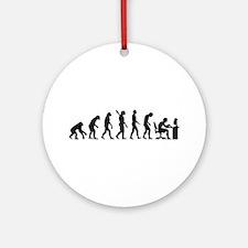 Computer office evolution Ornament (Round)