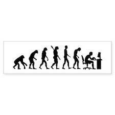 Computer office evolution Bumper Sticker