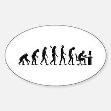 Computer office evolution Sticker (Oval)