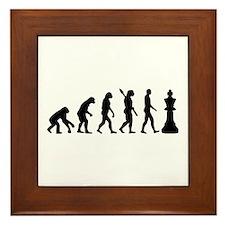 Chess king evolution Framed Tile