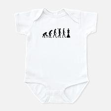 Chess king evolution Infant Bodysuit