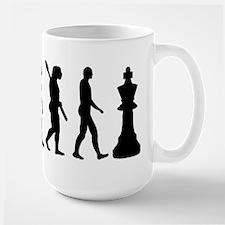 Chess king evolution Large Mug