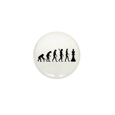 Chess king evolution Mini Button