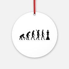 Chess king evolution Ornament (Round)