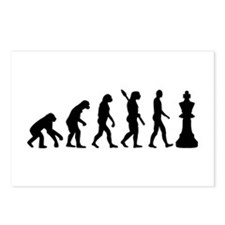 Chess king evolution Postcards (Package of 8)