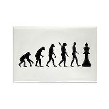 Chess king evolution Rectangle Magnet