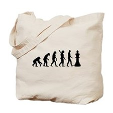 Chess king evolution Tote Bag