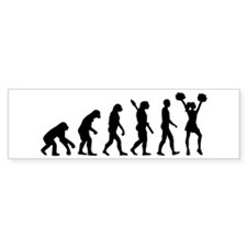 Cheerleader evolution Bumper Sticker