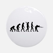 Pool billards evolution Ornament (Round)