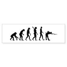 Pool billards evolution Bumper Sticker