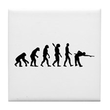 Pool billards evolution Tile Coaster