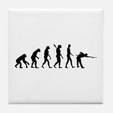 Pool billards evolution Tile Coaster