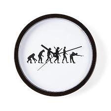 Pool billards evolution Wall Clock