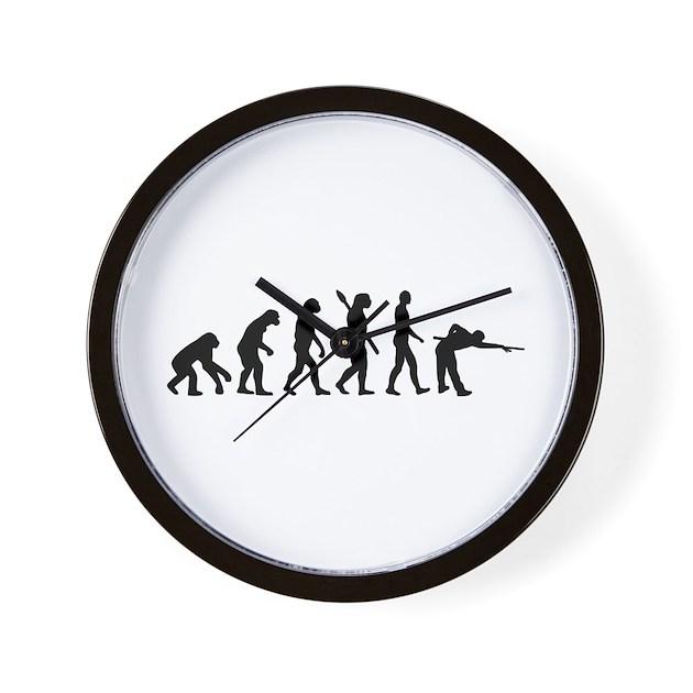 Pool billards evolution Wall Clock by Topstars