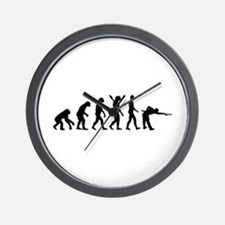 Pool billards evolution Wall Clock