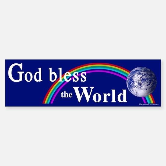Bumper Sticker God bless the World