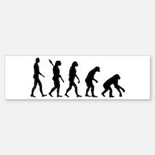 Evolution backwards Bumper Bumper Sticker