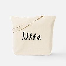 Evolution backwards Tote Bag