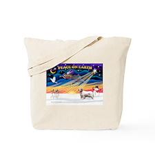 XSunrise-Clumber Spaniel Tote Bag