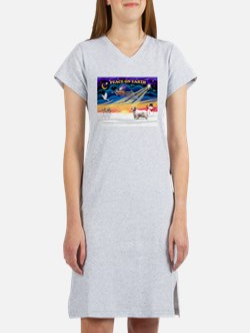 XSunrise-Clumber Spaniel Women's Nightshirt