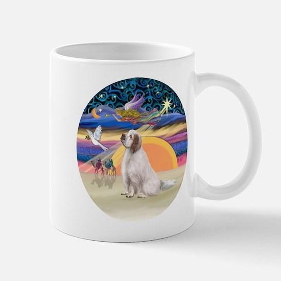XmasAngel-ClumberSpaniel Mug