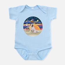 XmasAngel-ClumberSpaniel Infant Bodysuit