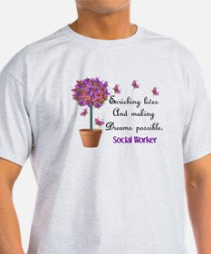 Social worker butterfly tree.PNG T-Shirt