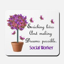 Social worker butterfly tree.PNG Mousepad