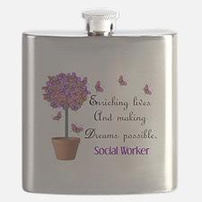 Social worker butterfly tree.PNG Flask