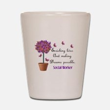 Social worker butterfly tree.PNG Shot Glass