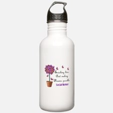 Social worker butterfly tree.PNG Water Bottle