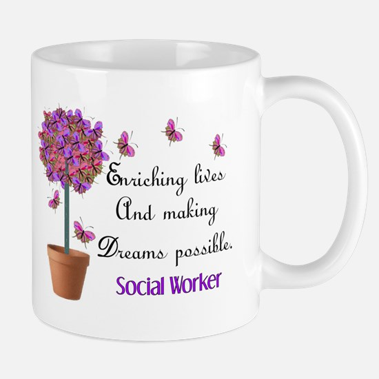 Social worker butterfly tree.PNG Mug