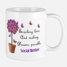 Social worker butterfly tree.PNG Small Small Mug