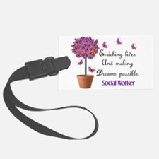 Social worker butterfly tree.PNG Luggage Tag