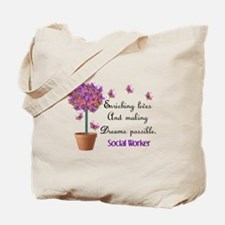 Social worker butterfly tree.PNG Tote Bag